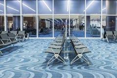 ATLANTA - 19 de janeiro de 2016: Aeroporto internacional de Atlanta, interior, GA Servindo 89 milhão passageiros um o ano Imagens de Stock Royalty Free