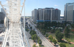 Atlanta de la roue de ferris de skyview images stock
