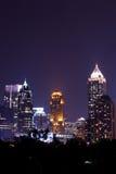 Atlanta de stad in bij schemer Stock Fotografie