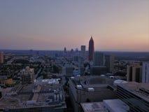 Atlanta del centro da sopra di mattina immagini stock libere da diritti
