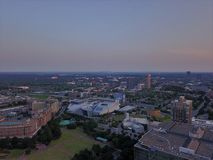 Atlanta Downtown from above with drone stock photography