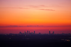 Atlanta downtown at dusk. Panorama of Atlanta downtown at dusk Royalty Free Stock Photography