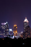 Atlanta downtown at dusk. Atlanta downtown in the night Stock Photography