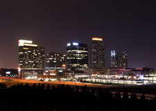 Atlanta downtown at dusk. Atlanta downtown in the night Royalty Free Stock Photography