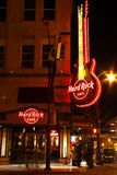 Atlanta Downtown - Hard Rock Cafe at Night Royalty Free Stock Photo