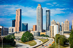 Atlanta downtown skyline with blue sky Royalty Free Stock Photography