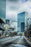 Atlanta downtown skyline scenes in january on cloudy day Stock Photo