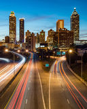 Atlanta downtown skyline during twilight Royalty Free Stock Image