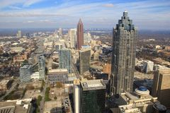 Atlanta Downtown Skyline, USA Stock Photography