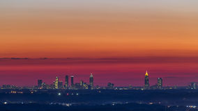 Atlanta Downtown Sunset Skyline Stock Photos