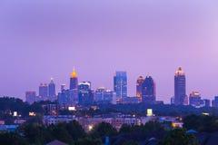 Atlanta du centre dans le crépuscule Images stock