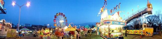 Atlanta Fair Panoramic. A panoramic image of a fair in Atlanta, Georgia Royalty Free Stock Images