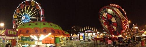 Atlanta Fair Panoramic 2. A panoramic image of a fair in Atlanta, Georgia Royalty Free Stock Photos