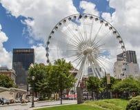 Atlanta Ferris Wheel Imagen de archivo libre de regalías