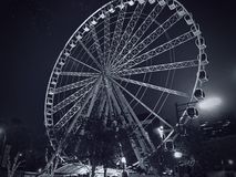 Atlanta Ferris Wheel Black and White 2 Stock Images
