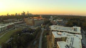 Atlanta flyg- stadsBeltline arkivfilmer