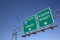 Atlanta Freeway Signs Royalty Free Stock Photos