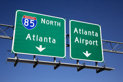 Atlanta Freeway Signs Stock Image