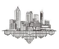 Atlanta GA-horisont royaltyfri illustrationer