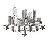 Atlanta, GA Skyline Royalty Free Stock Images