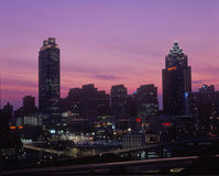 Atlanta, GA skyline with capitol at sunset Stock Photography