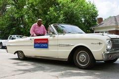 Georgia Congressman John Lewis Rides In Atlanta Spring Festival Stock Photo