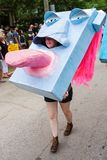 Woman Wears Huge Mask With Giant Tongue In Atlanta Parade Royalty Free Stock Photo