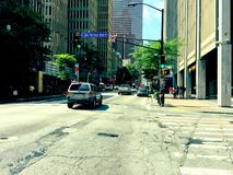 Atlanta, Georgië, het de Stadsleven Van de binnenstad van GA royalty-vrije stock afbeeldingen