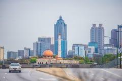 Atlanta georgia city skyline on cloudy  day Royalty Free Stock Image