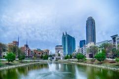 Atlanta georgia city skyline. On cloudy day Royalty Free Stock Photography