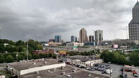 Atlanta, Georgia on a cloudy day royalty free stock photography