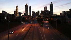 Atlanta Georgia Dusk. Atlanta Georgia downtown skyline cityscape at dusk