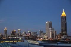 Atlanta, Georgia, Evening Skyline Royalty Free Stock Photos