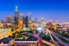 Atlanta Georgia horisont Fotografering för Bildbyråer