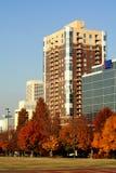 Atlanta, Georgia im Herbst lizenzfreie stockfotos