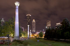 Atlanta Georgia (nighttime) Royalty Free Stock Photography