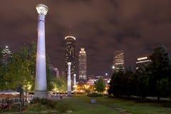 Atlanta Georgia (nighttime) Royalty Free Stock Photography