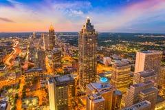 Atlanta, Georgia, orizzonte di U.S.A. Fotografie Stock Libere da Diritti