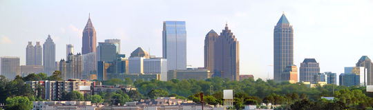 Atlanta Georgia Panoramic. Panoramic of downtown Atlanta Georgia Stock Photo
