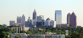 Atlanta Georgia Panoramic. Wide angle shot of downtown Atlanta Georgia Stock Image