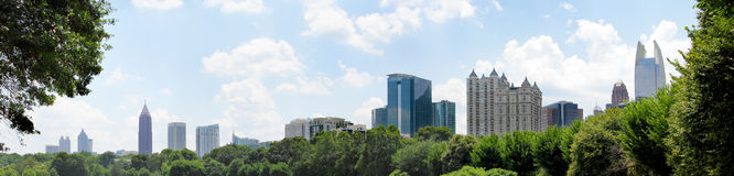 Atlanta Georgia Panoramic Stock Image