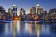 Atlanta, Georgia Piedmont Park Skyline. Atlanta, Georgia, USA midtown skyline from Piedmont Park Stock Photo