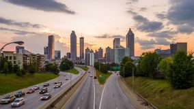 Atlanta Georgia Skyline stock footage