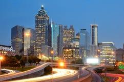 Atlanta, Georgia Skyline. Above Interstate 85 Royalty Free Stock Photos