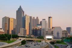 Atlanta, Georgia Skyline. Above Interstate 85 Stock Images