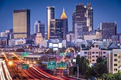 Atlanta, Georgia Skyline. Atlanta, Georgia, USA twilight rush hour Royalty Free Stock Photos