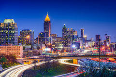 Atlanta Georgia Skyline Royaltyfri Foto