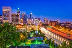 Atlanta Georgia Skyline. Atlanta, Georgia, USA downtown cityscape at night Royalty Free Stock Photos