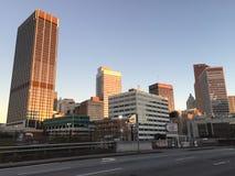 Atlanta Georgia Skyline früh morgens stockbild