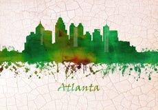 Atlanta Georgia Skyline ilustración del vector